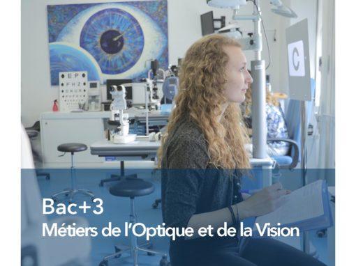 Bac+3 Métiers de l'Optique & de la Vision